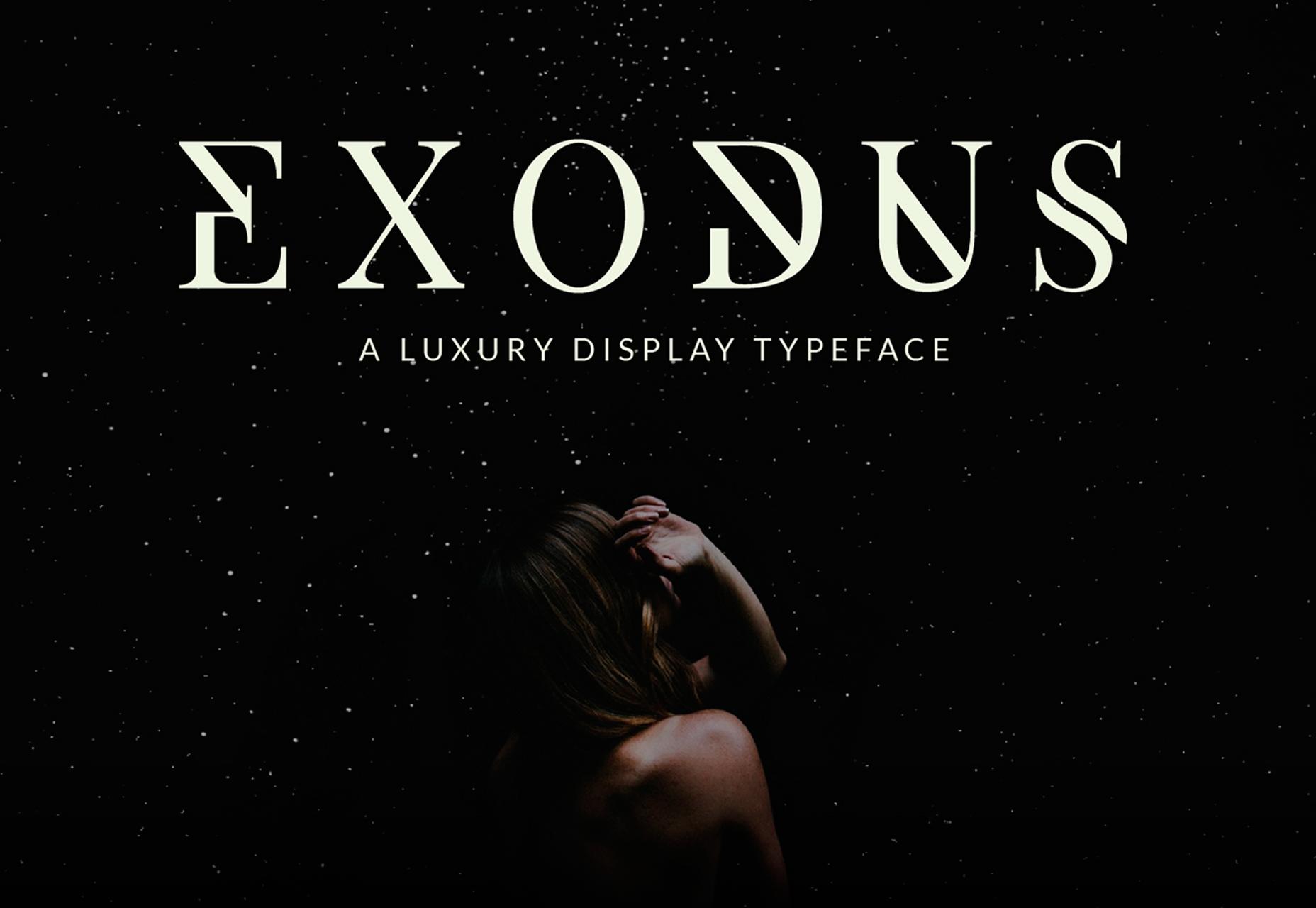 Exodus: Luxury 6-tyylinen Display Typeface