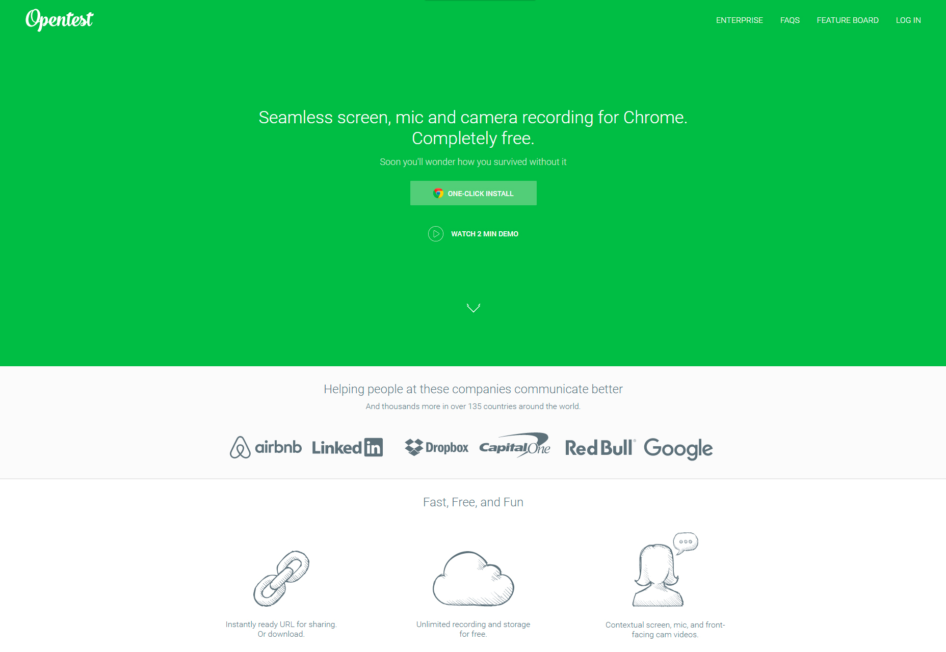 Oponent: Bezproblémová obrazovka, záznam mikrofonu a kamery pro Chrome