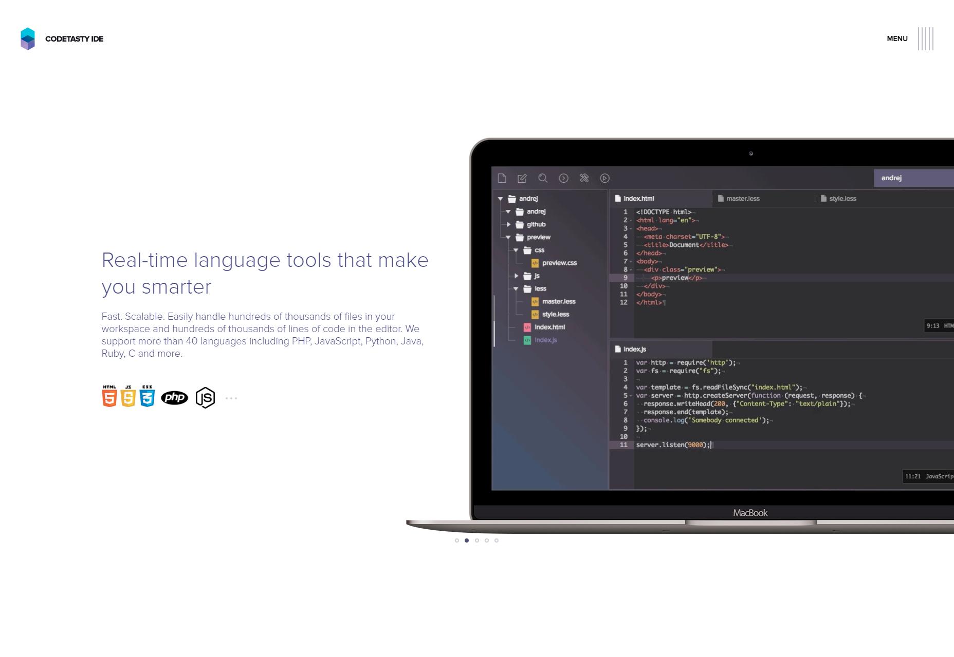 CodeTasty: Tehokas pilvi-IDE