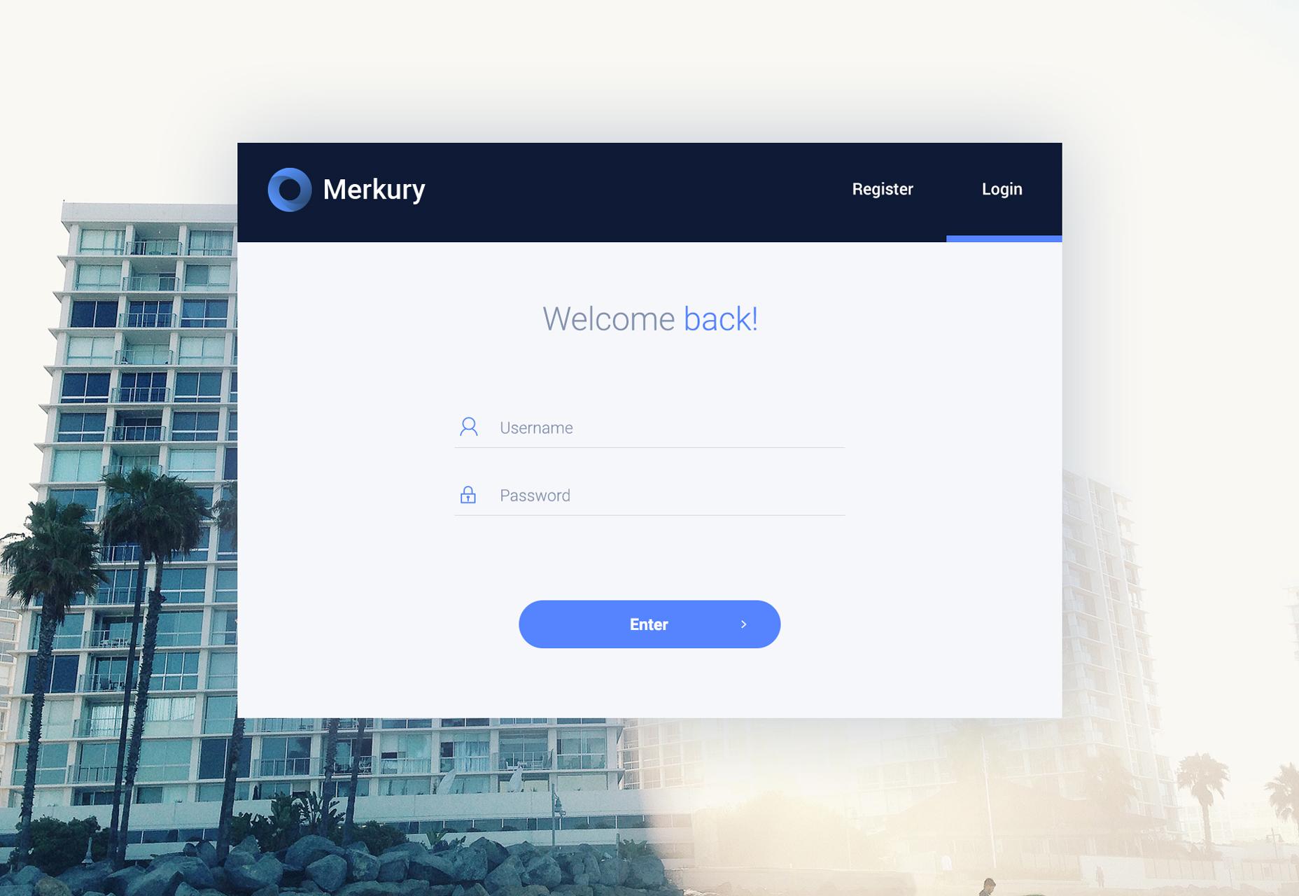 Merkury: Web Dashboard PSD-sjabloon