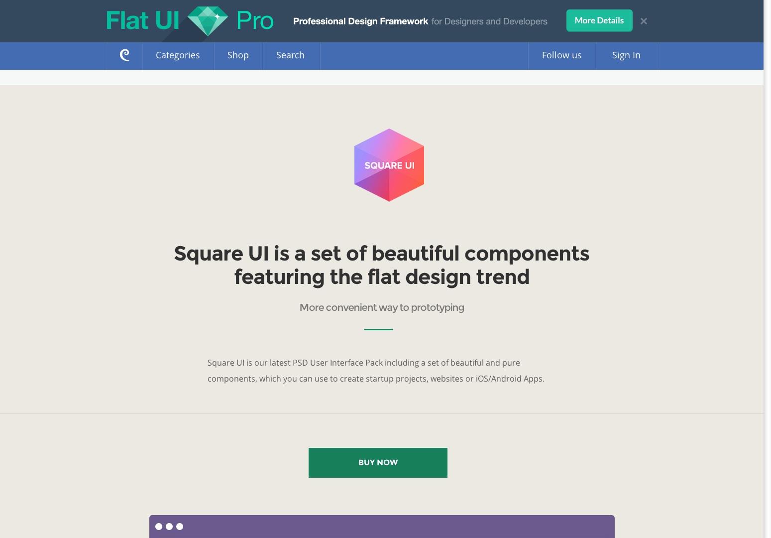 Square UI - Sada uživatelského rozhraní - Designmodo
