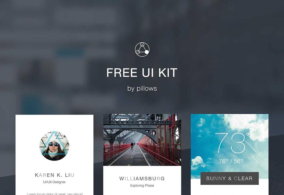 Gratis heldere en esthetische PSD- en AI UI-kit