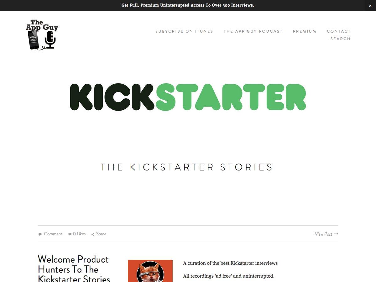 historias de kickstarter