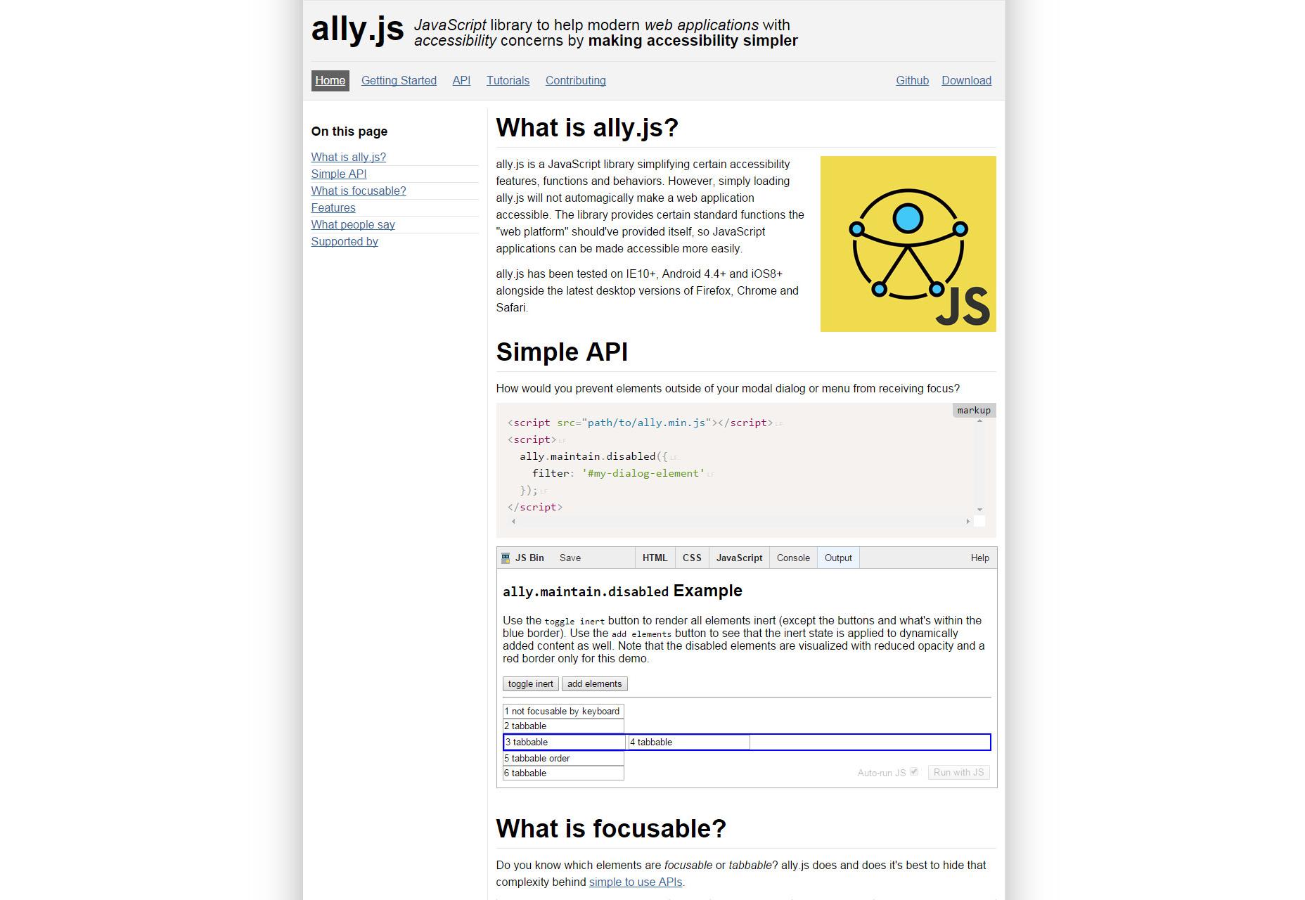 Ally.js: biblioteca de JavaScript de accesibilidad primero