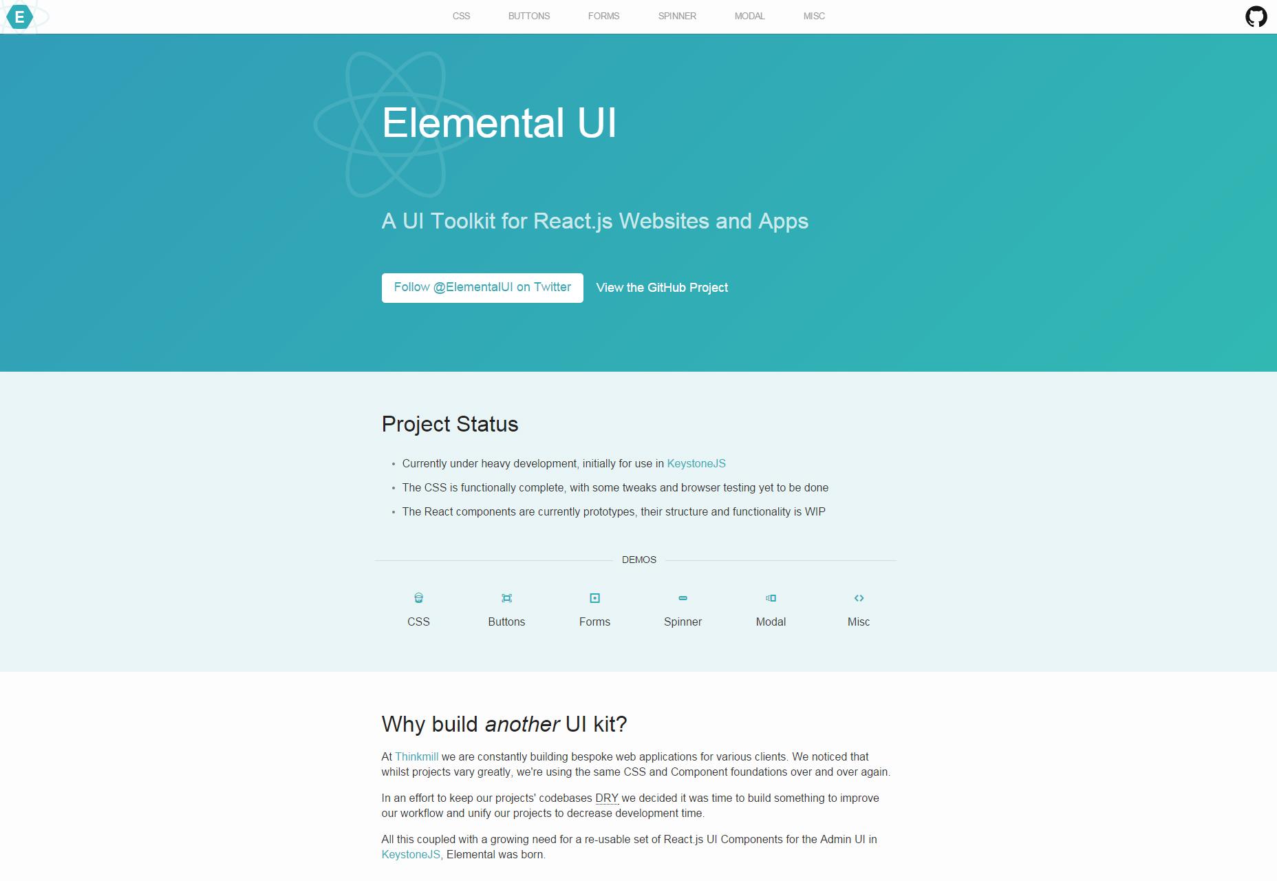 Elementaire: ReactJS Gerichte UI-toolkit