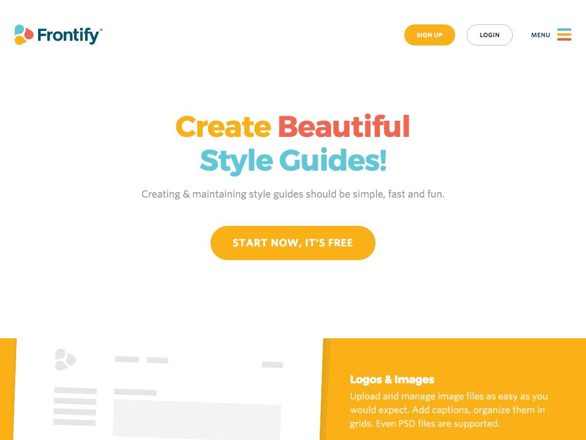 Guía de estilo de Frontify
