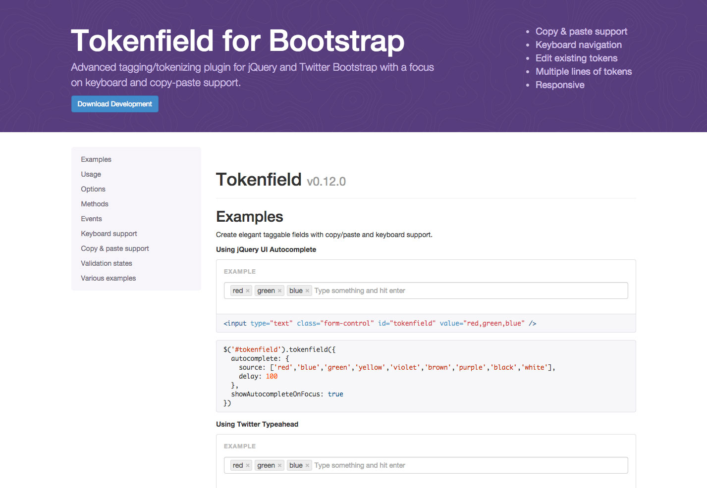 tokenfield