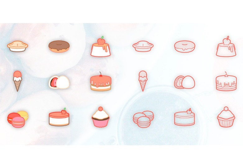 free-sweetsdesserts-icon-set