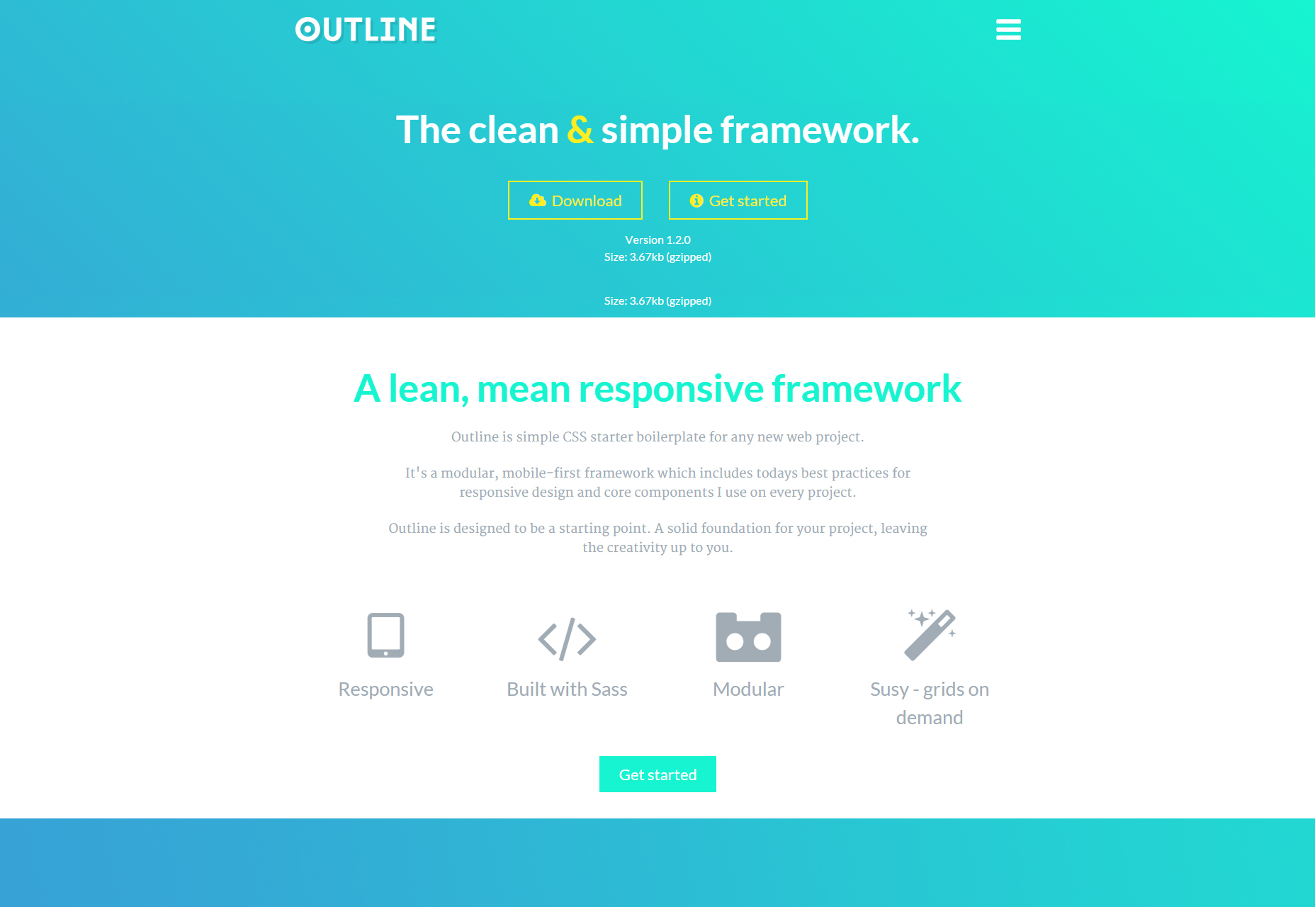 Outline - Het Clean & Simple Responsive CSS Framework.