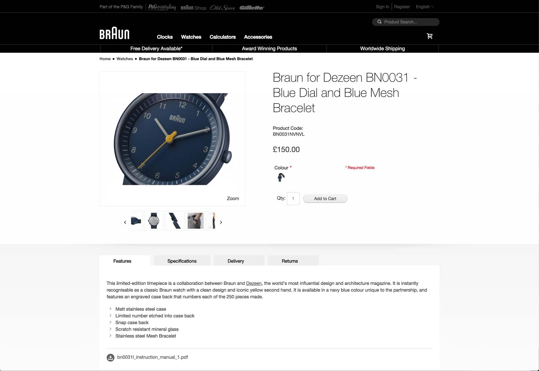 braun-klokke
