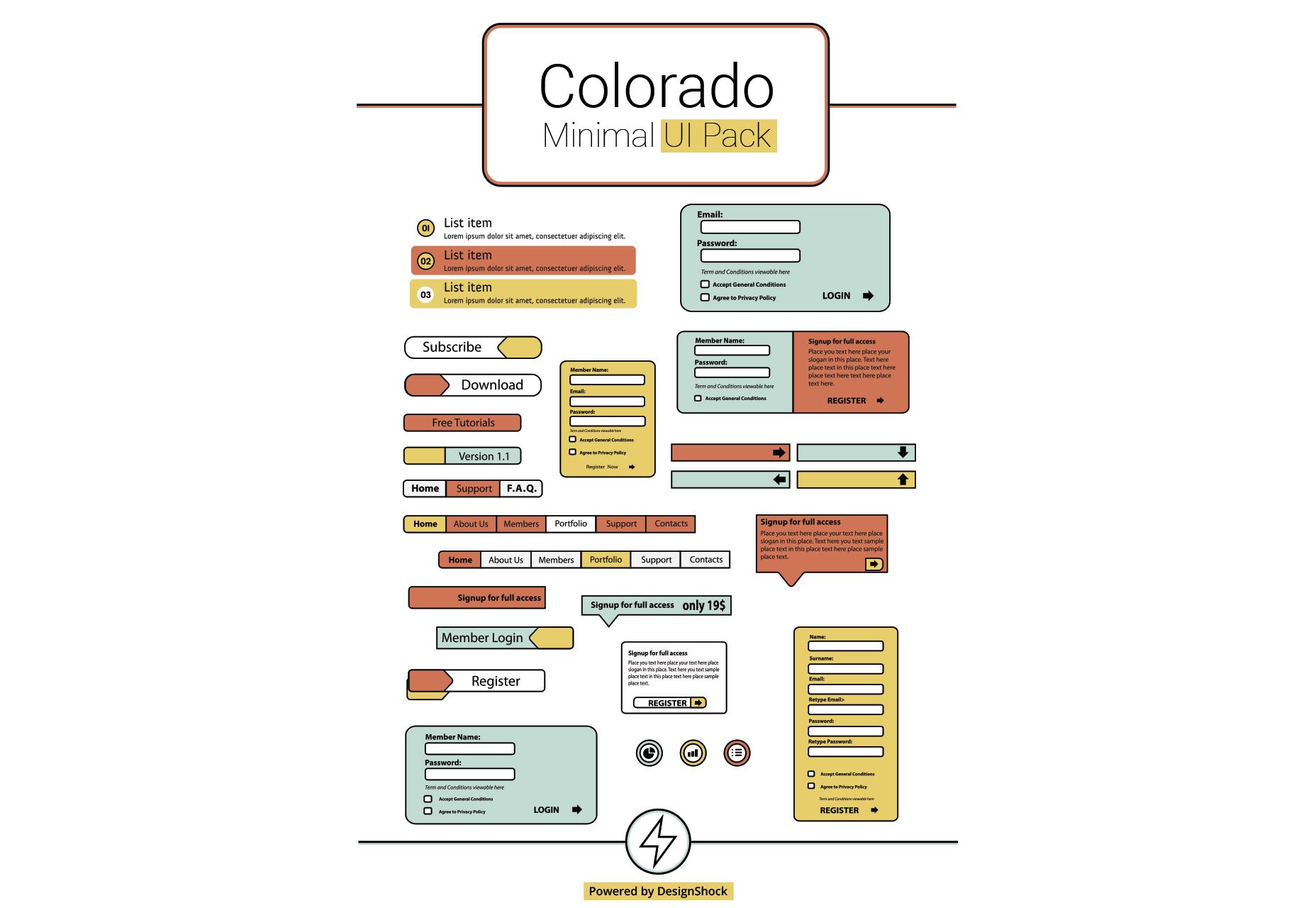 Colorado: schoon en minimaal UI-pakket