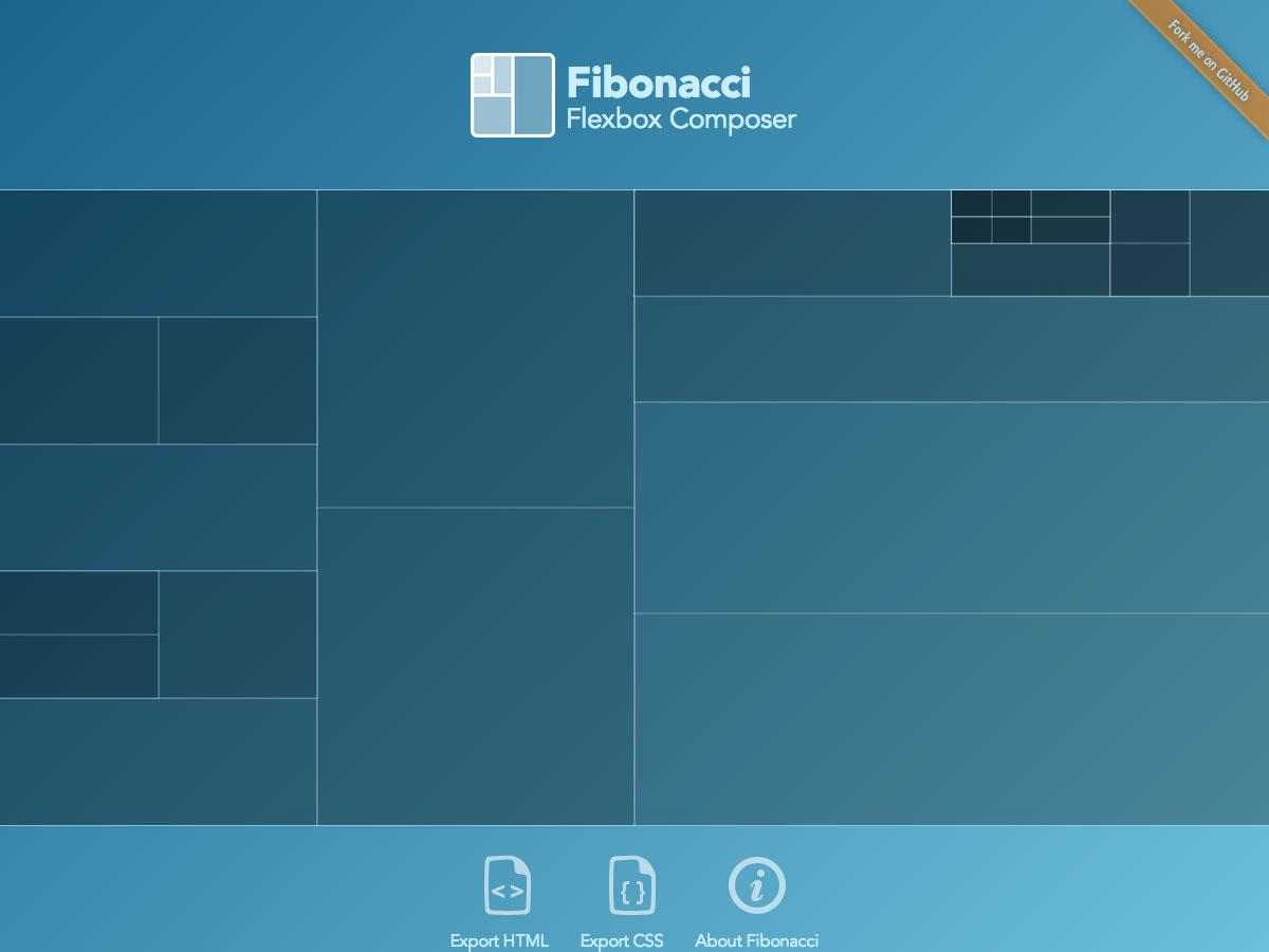 compositor Fibonacci FlexBox