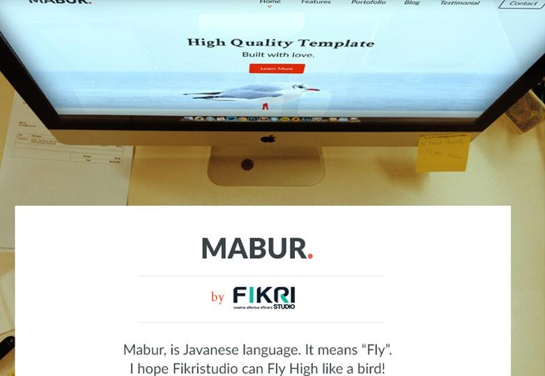 Mabur PSD template