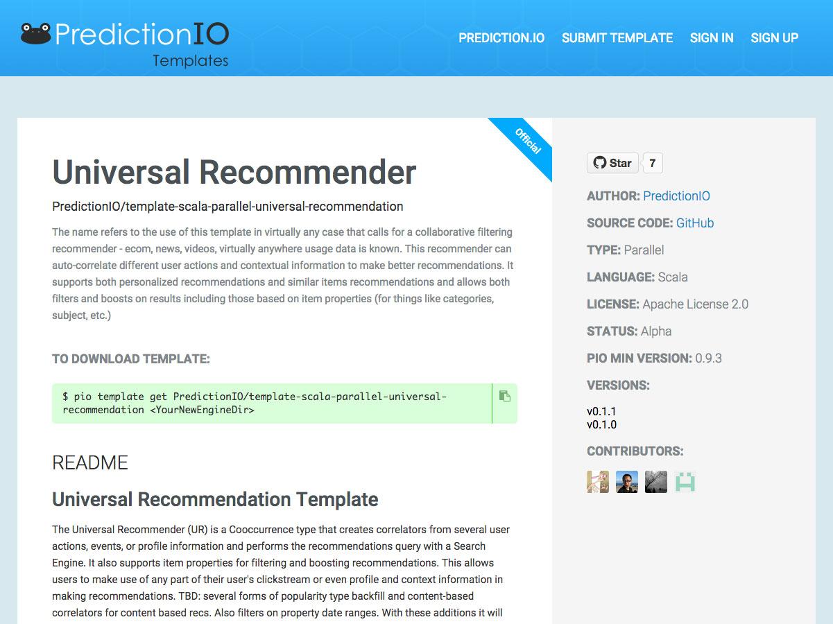 recomendador universal