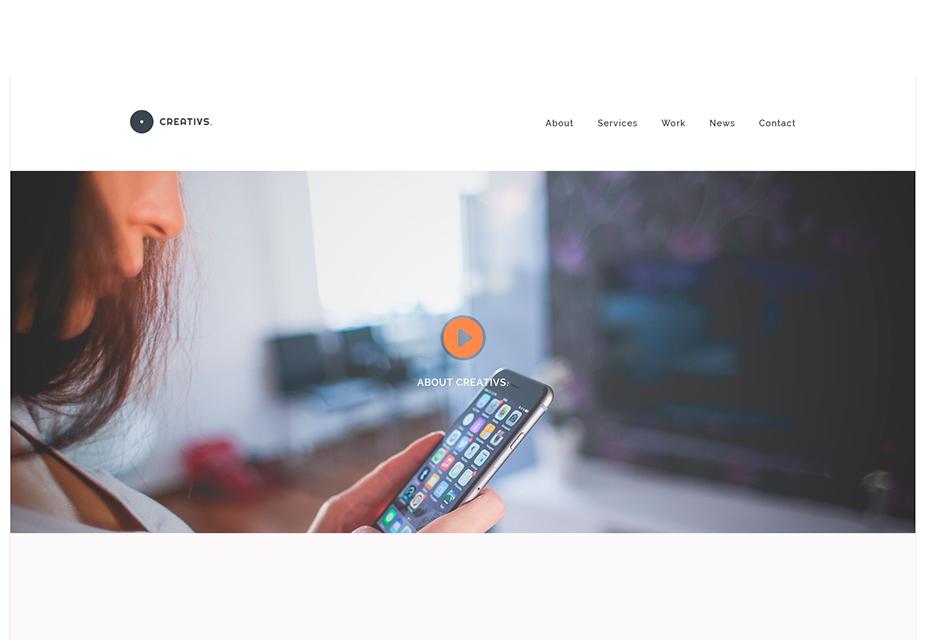 Creativs: Plantilla de sitio web PSD y HTML5