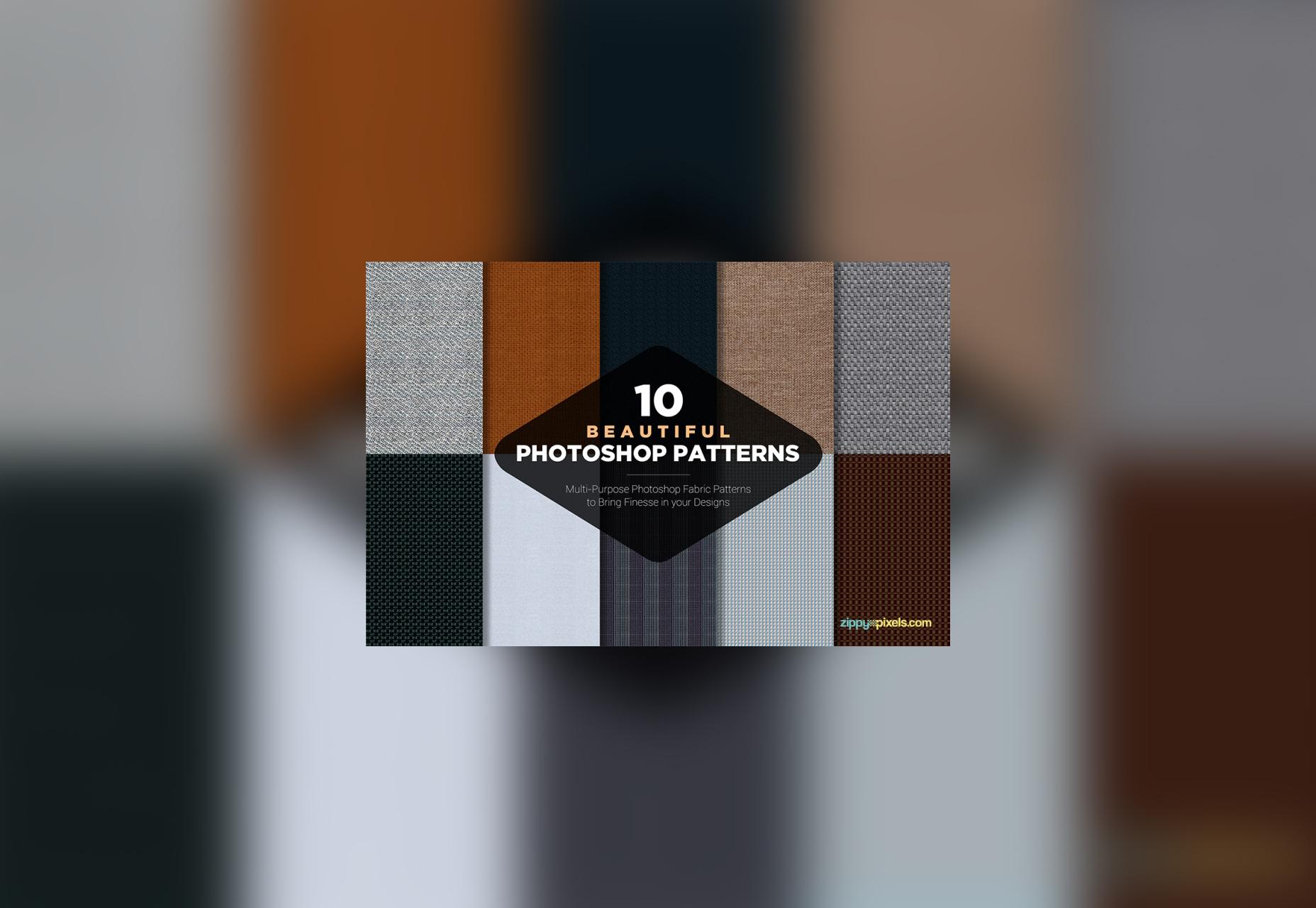 10 patrones de tela de Photoshop gratis
