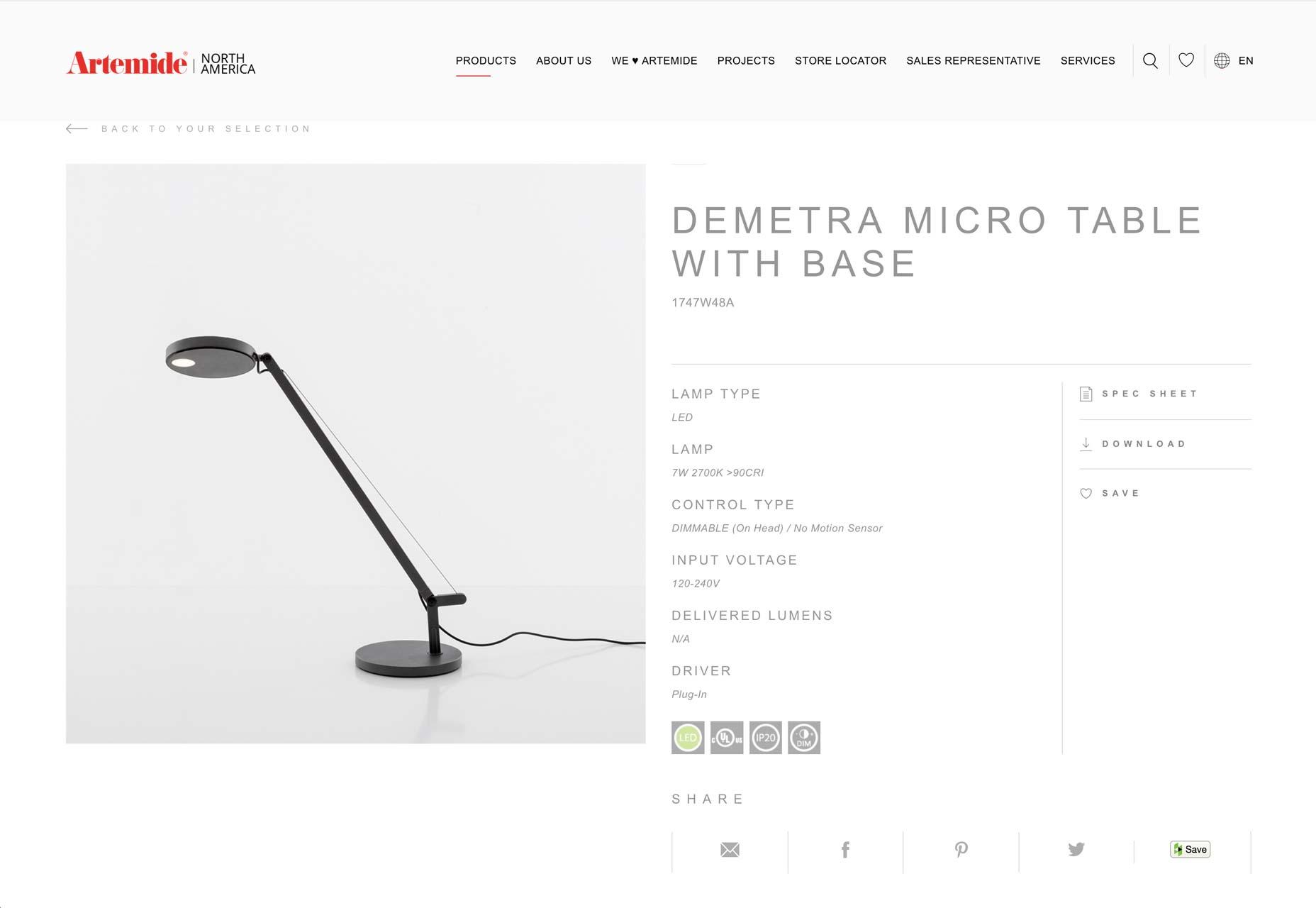 artemidová lampa