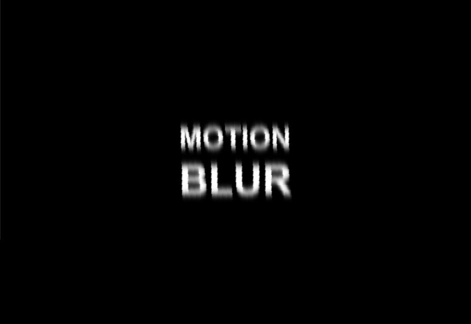 Efecto Motion Blur