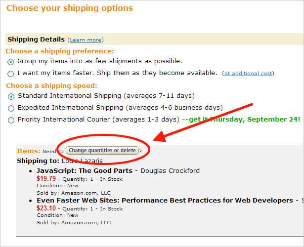 Amazon Shipping Options