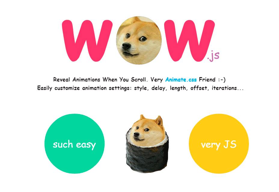 WOW.js: Revelar animaciones al desplazarse