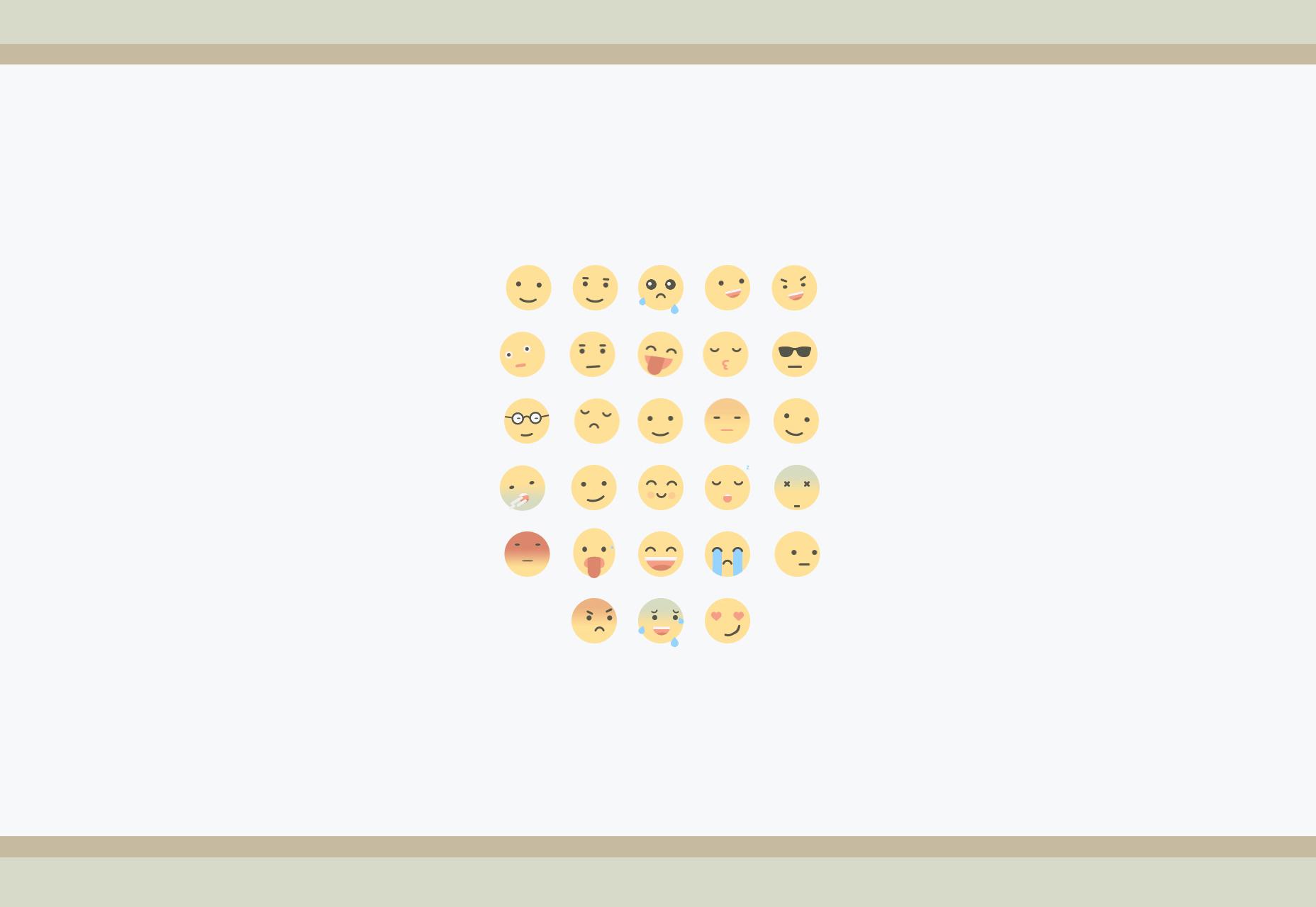 Adobe After Effects geanimeerde platte emoji's