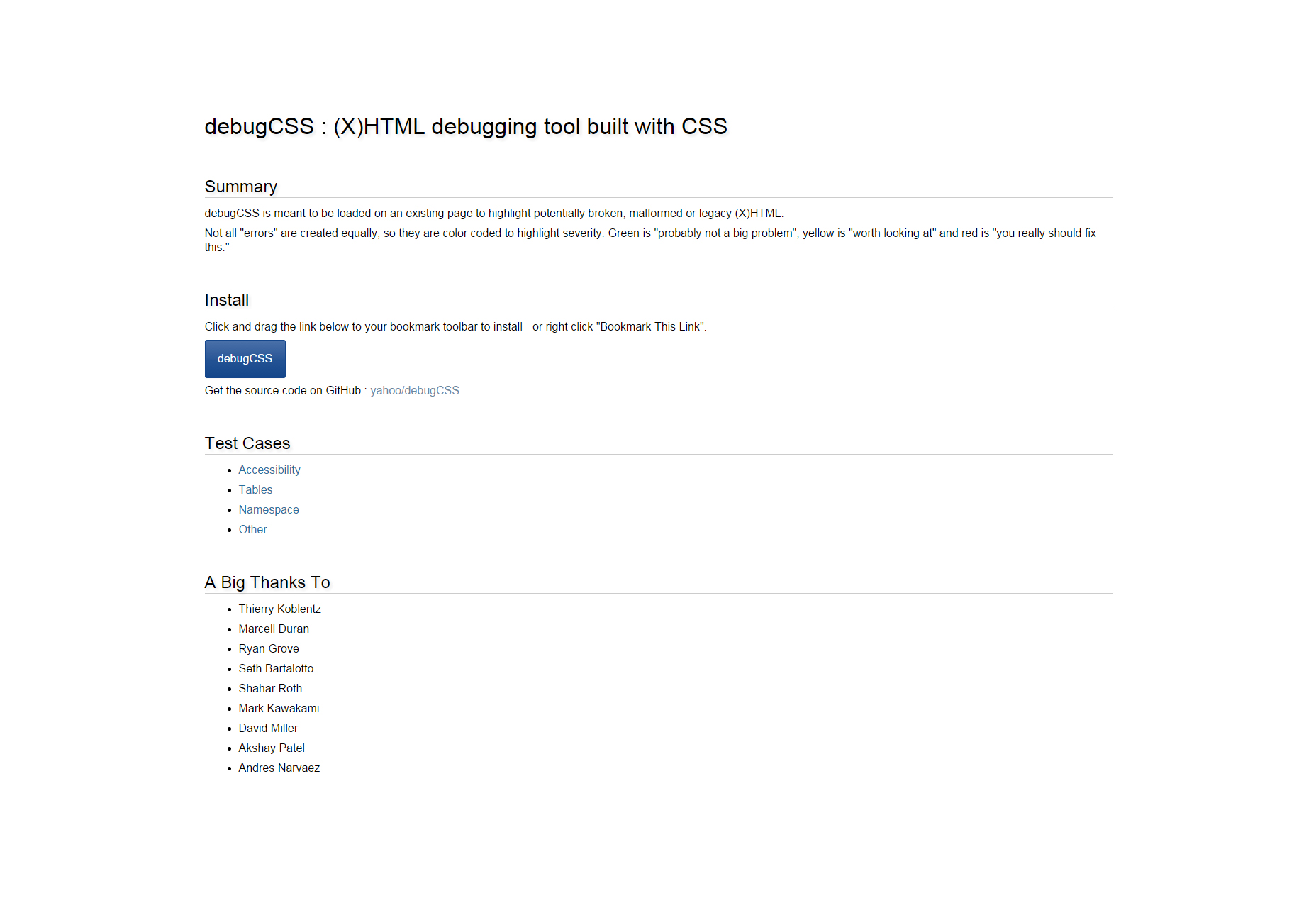 DebugCSS: herramienta de depuración HTML CSS construida