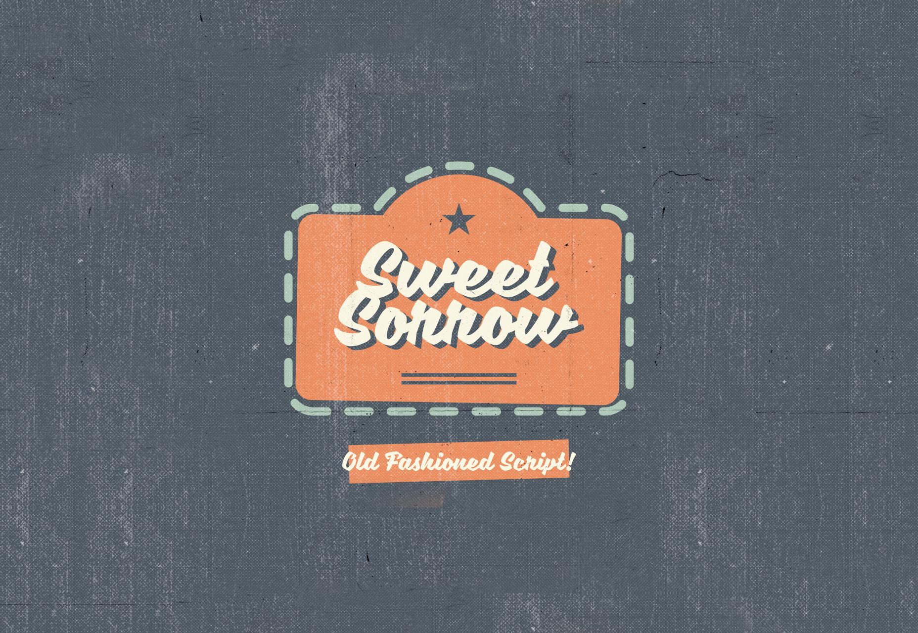 Sweet Sorrow: vanhanaikainen kirjoitusfontti