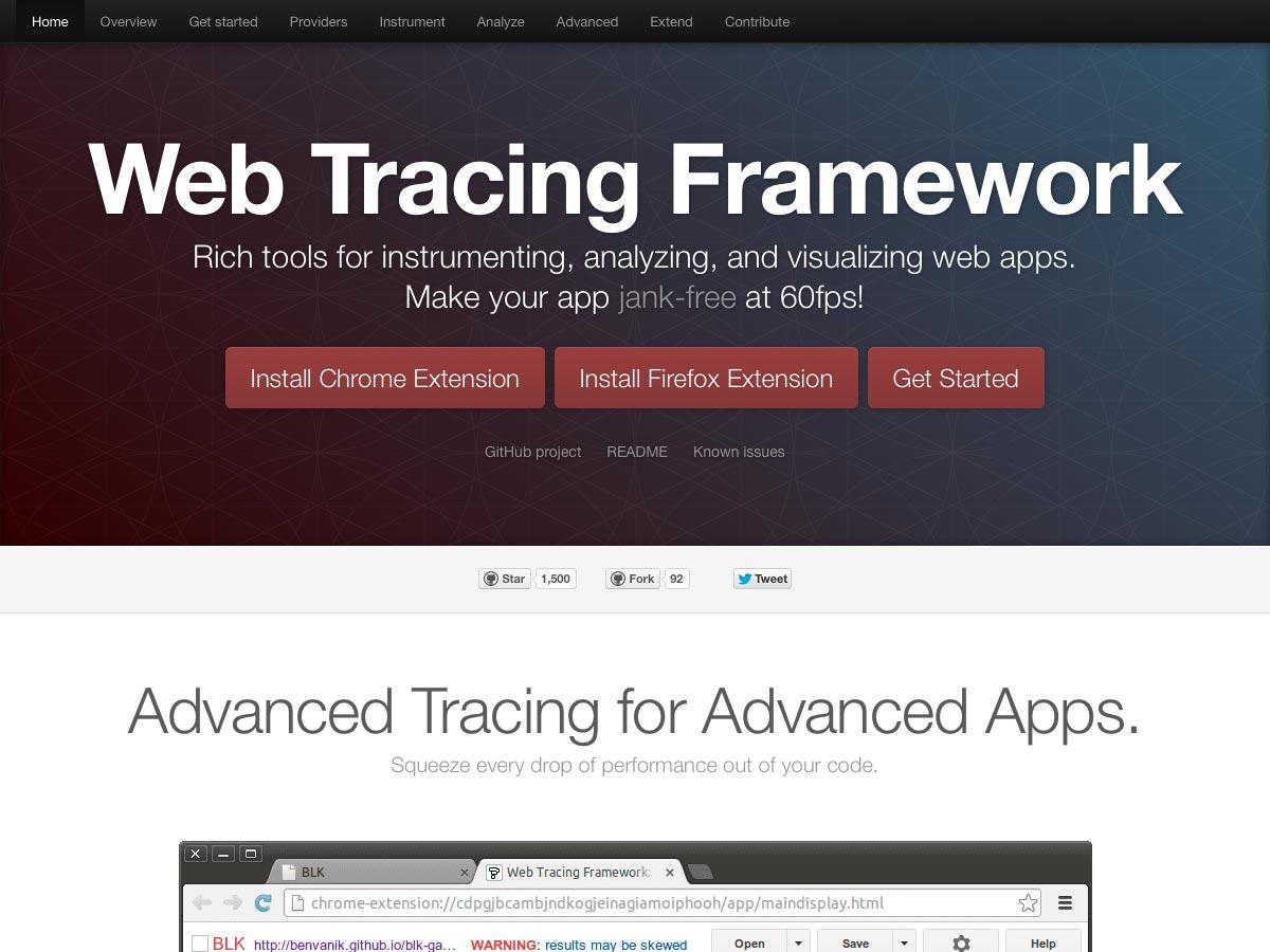marco de seguimiento web