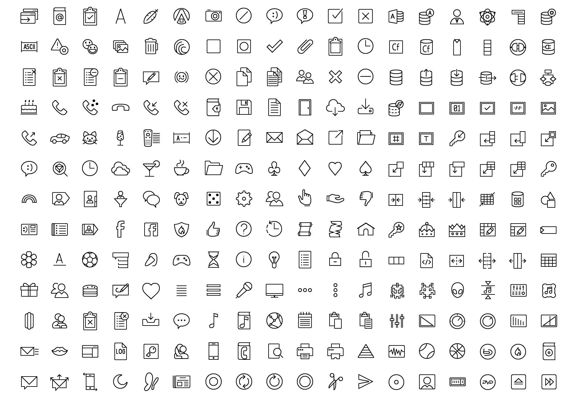 Overzicht & Filled Vector Icons Collection