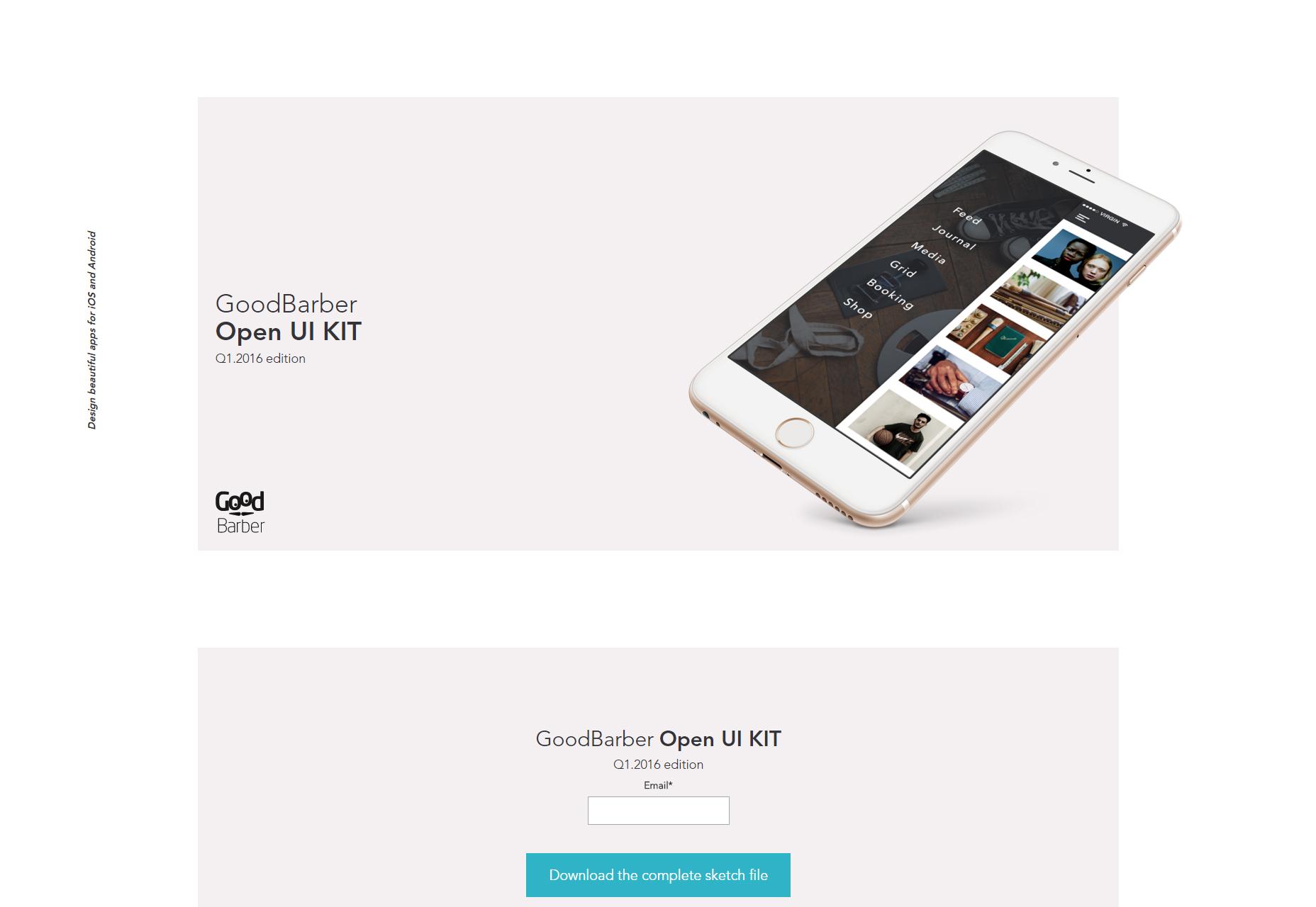 GoodBarber: Dark & Open iOS UI Kit
