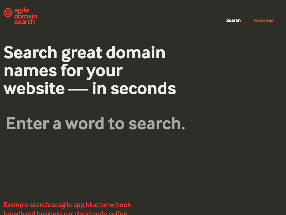 búsqueda de dominio ágil