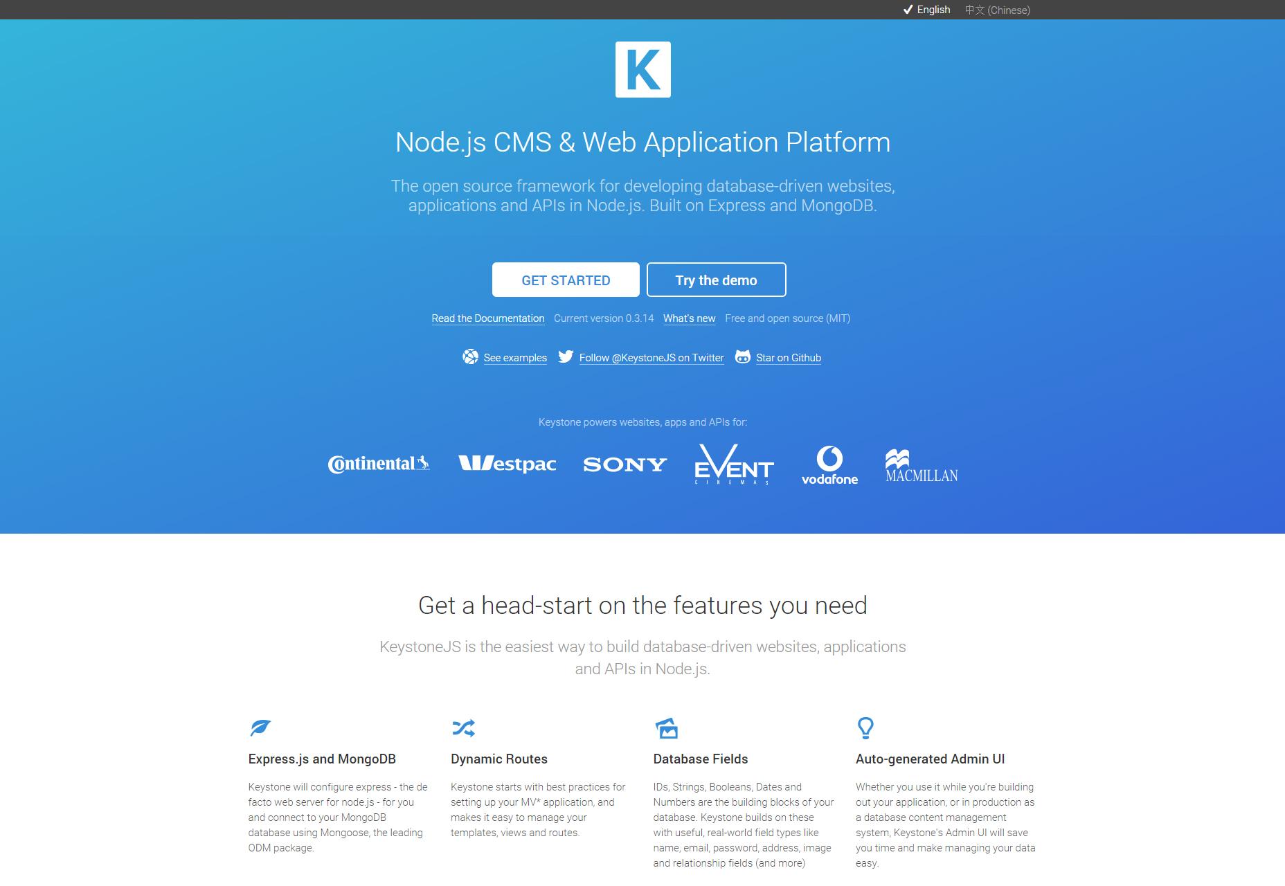 KeystoneJS: Node.js CMS y plataforma de aplicaciones web