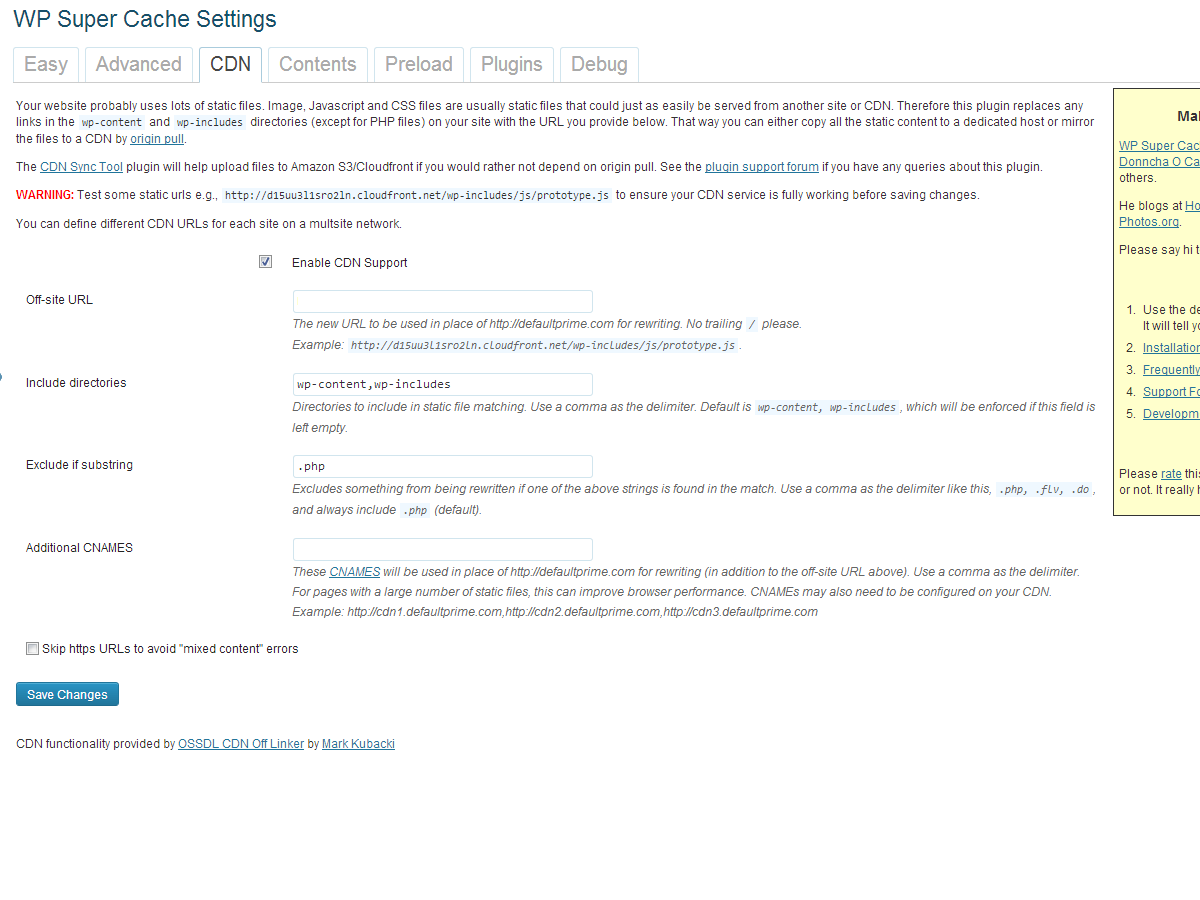 wp_super_cache_cdn_settings