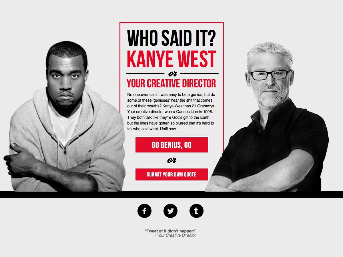 kanye vs director creativo