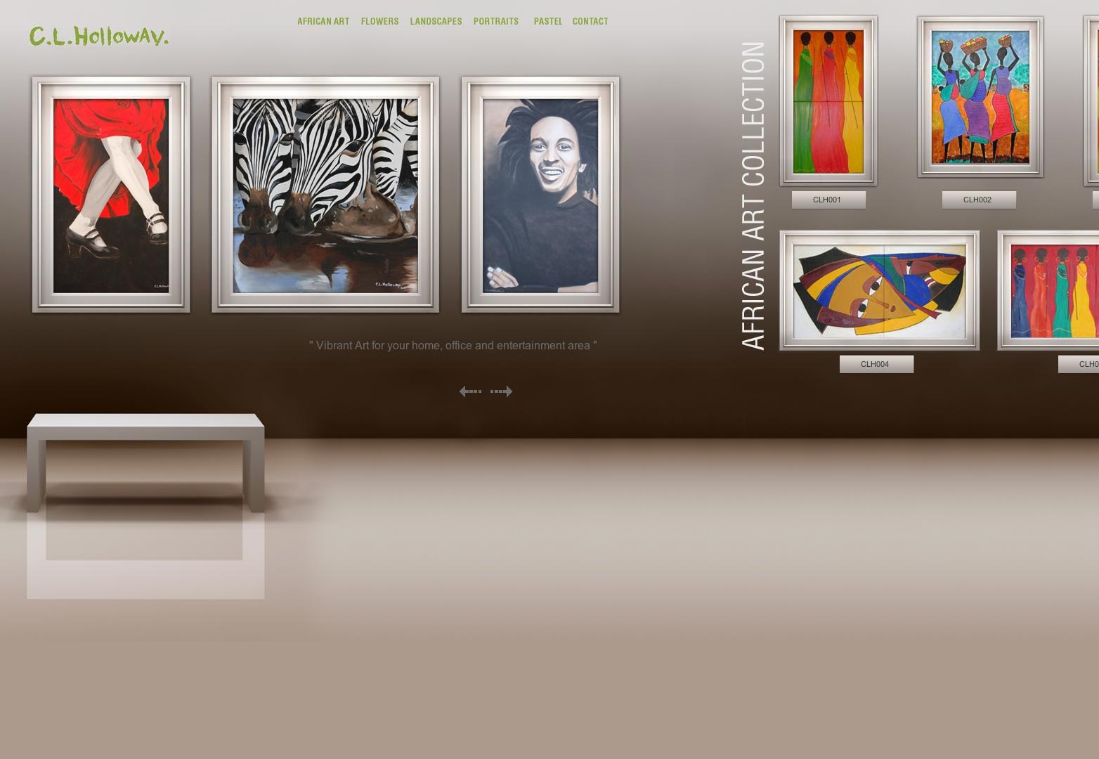 Umělec, malíř, firemní umění, africké, portréty: CL Holloway