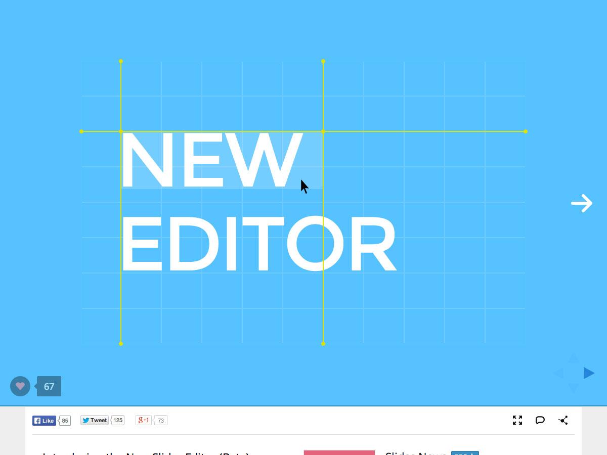 nuevo editor de diapositivas