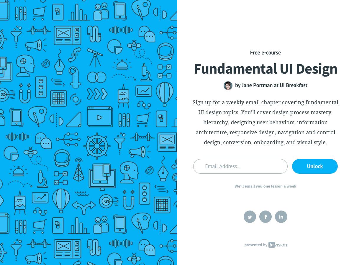 Diseño de interfaz de usuario fundamental