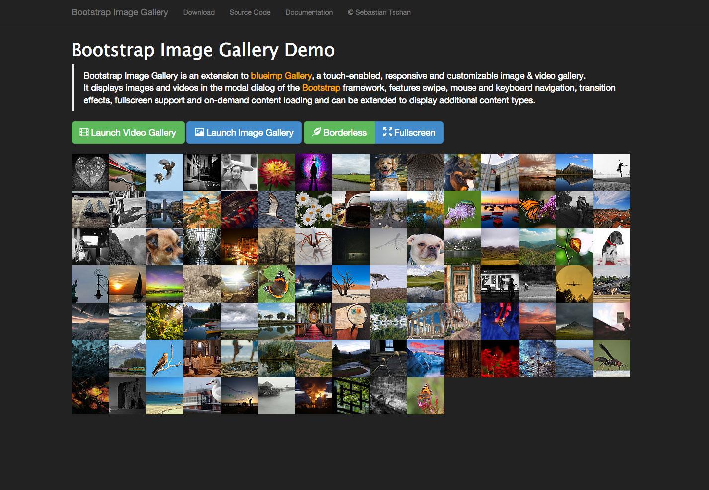 Galería de imágenes bootstrap