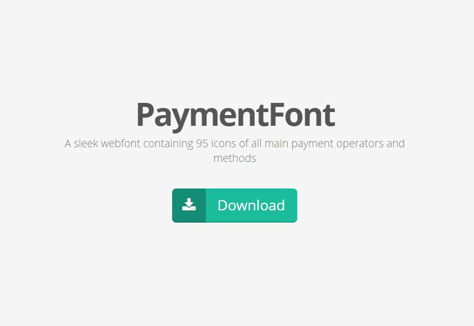 PaymentFont: Handige Webfont met betalingsgerelateerde pictogrammen