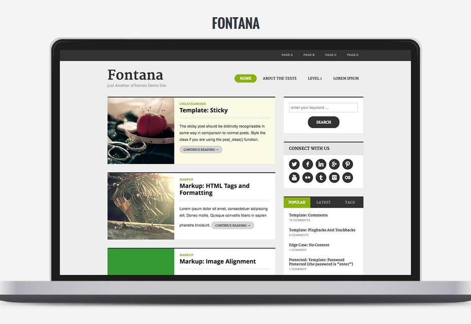 Tema Fontana WordPress