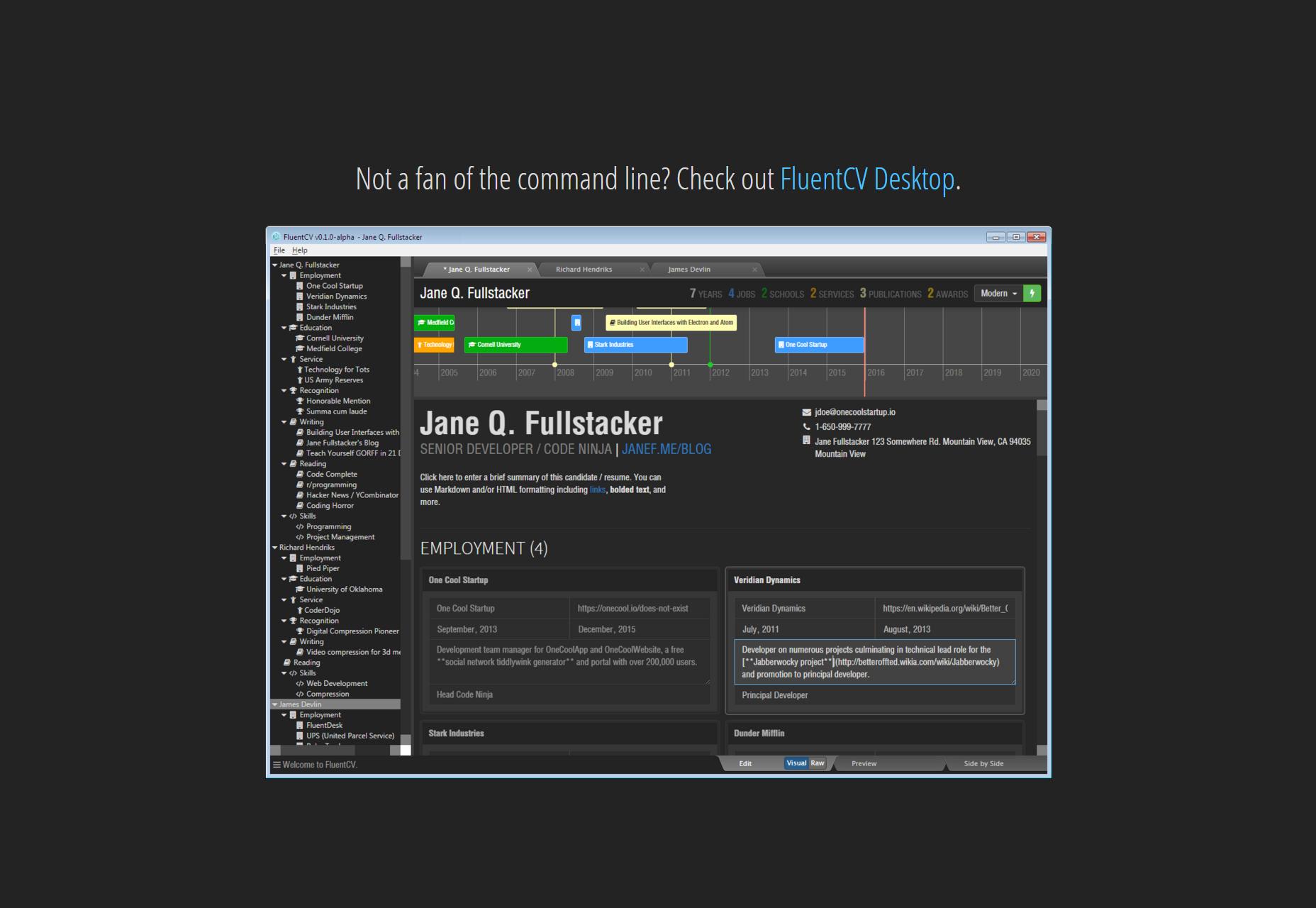 HackMyResume: hulpprogramma voor crawlen en CV's voor meerdere besturingssystemen