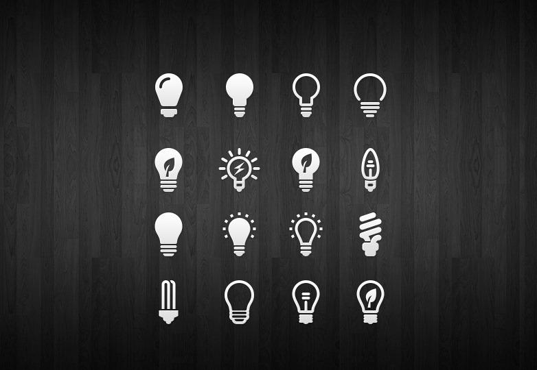 Light Bulb Icon Set