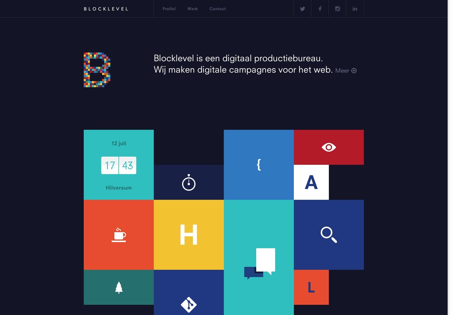 Blocklevel | Digitaal Productiebureau. Vytvořte si digitální kampaně pro web.