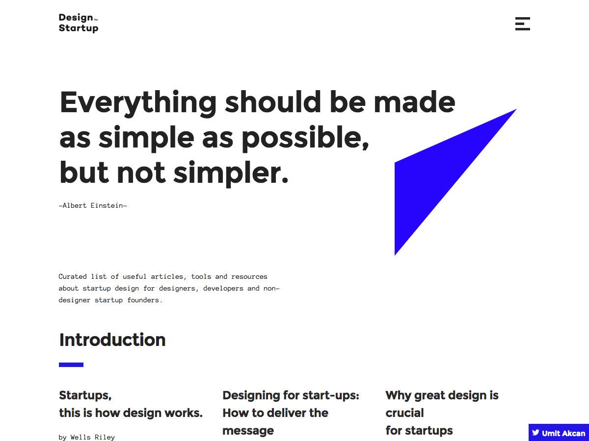 diseño para el inicio