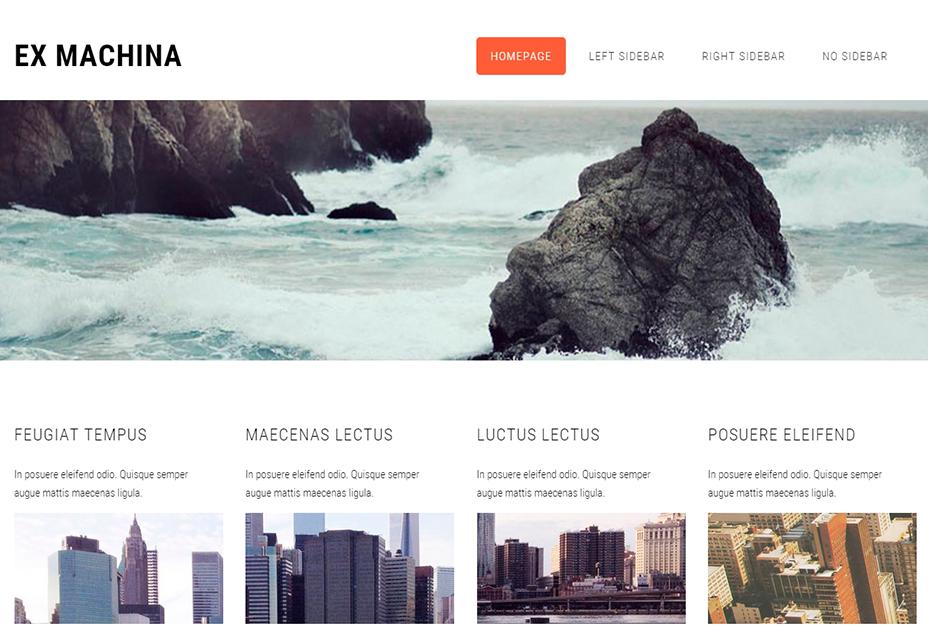 Plantilla HTML5 Ex Machina