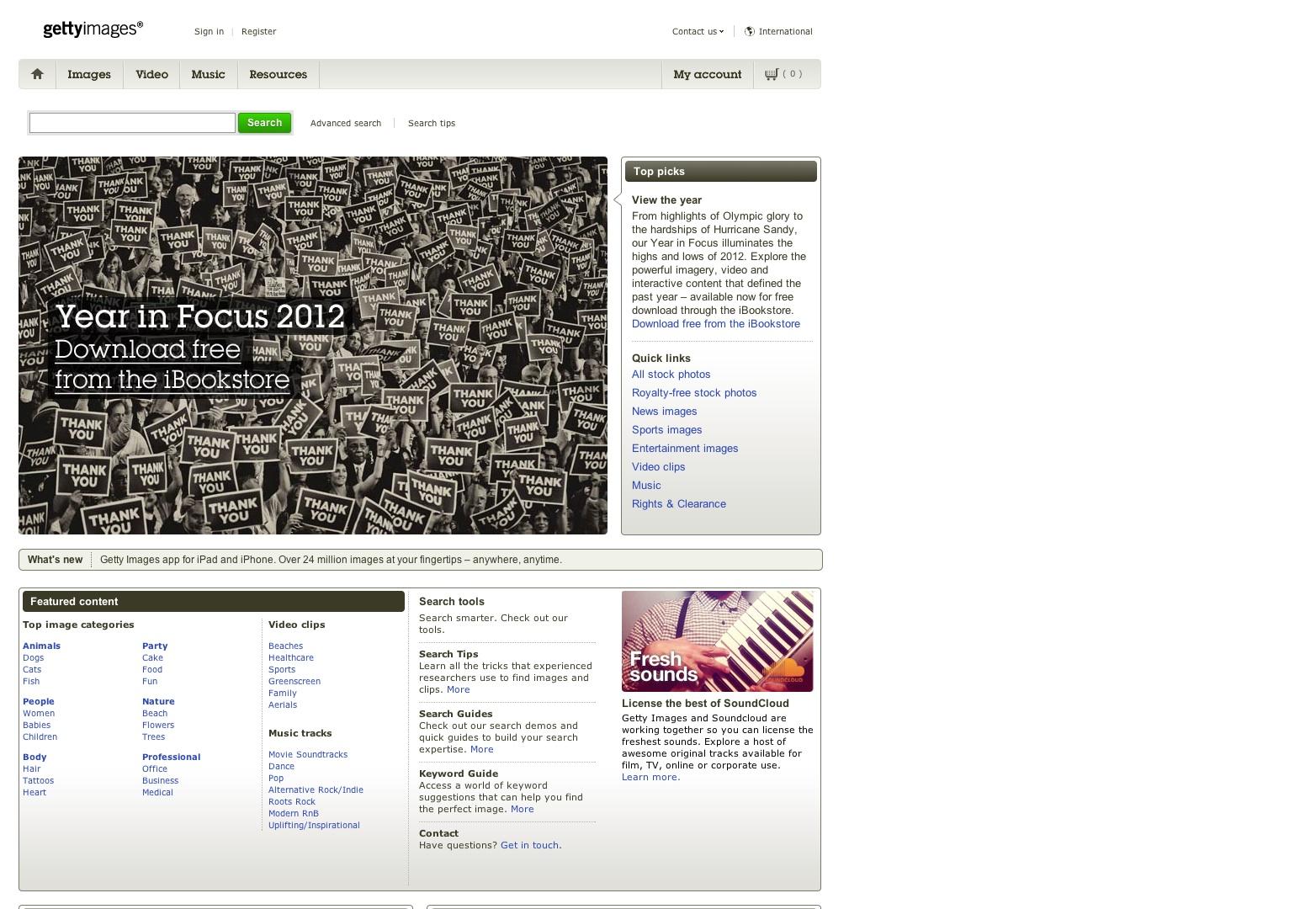 Fotos, imágenes sin royalties, video en línea y música | imágenes falsas