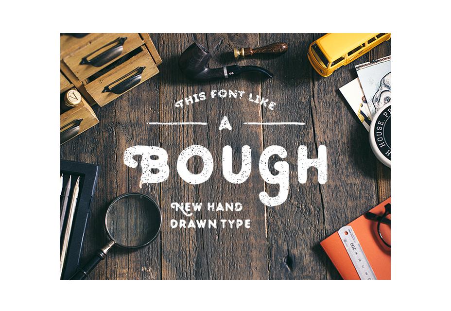 Rama: tipografía dibujada a mano