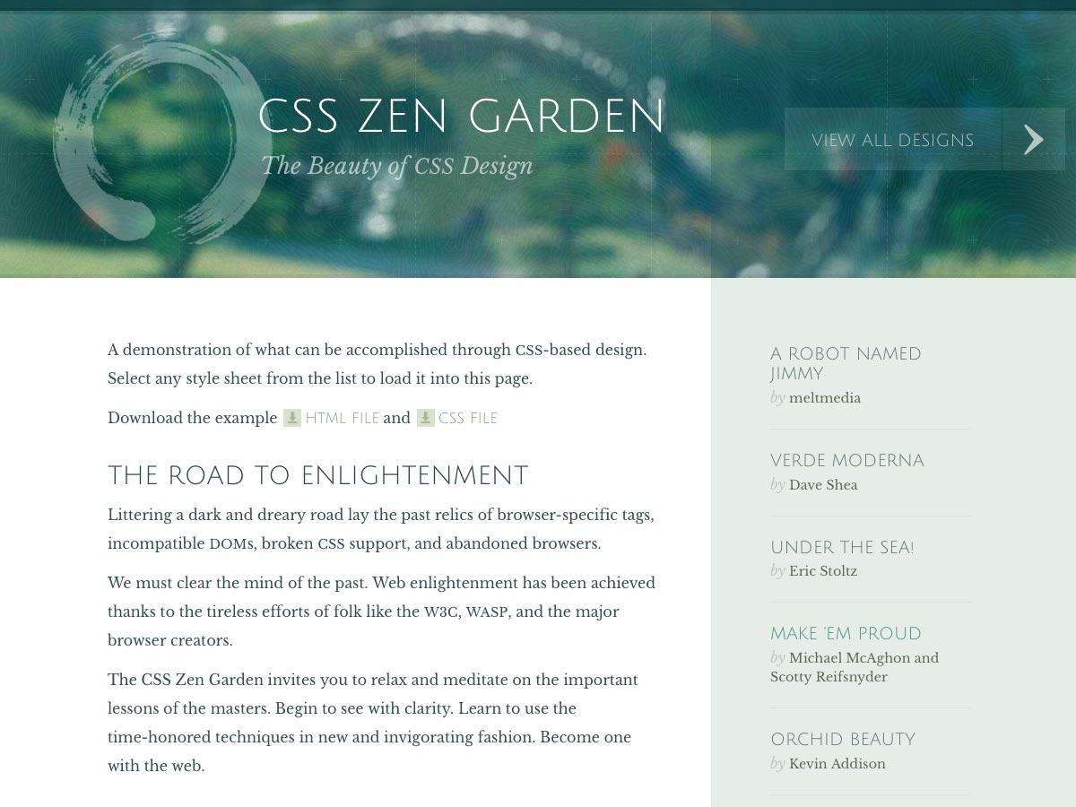 css zen zahrada