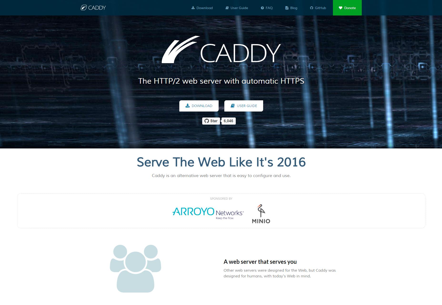 Caddy: Täysin hallittu SSL HTTP / 2-Web-palvelin