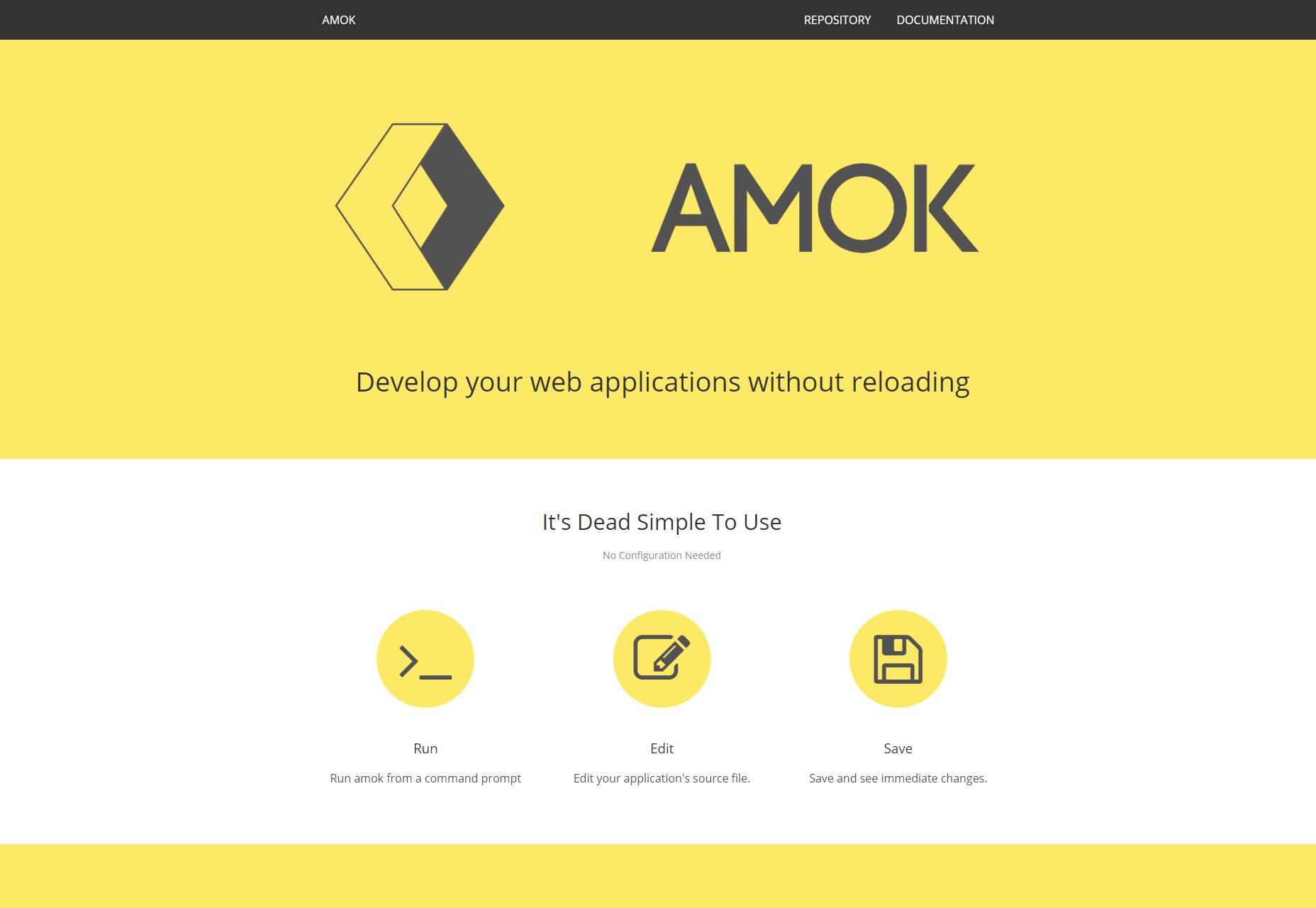 Amok: desarrolle su aplicación web sin recargar